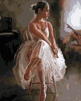 "Картина по номерам ""Изящная балерина"" (400х500 мм)"