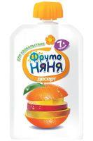 """Детское пюре ФрутоНяня """"Десерт из яблок, бананов, апельсинов и манго"""" (90 г)"""