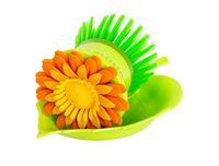 """Щетка для мытья посуды на подставке """"Цветок"""" (80 мм)"""