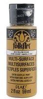 """Краска акриловая """"FolkArt Multi-Surface"""" (желтая охра, 59 мл; арт. PLD-02910)"""