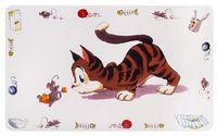 """Коврик под миску """"Comic Cat"""" (44х28 см)"""