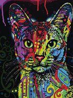 "Картина по номерам ""Радужный кот"" (400х500 мм)"