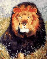"""Картина по номерам """"Царь зверей"""" (400х500 мм)"""
