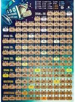 """Скретч-постер """"150 лучших фильмов"""" (420х594 мм)"""