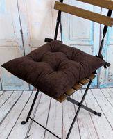 """Подушка на стул """"Velours"""" (42х42 см; темно-коричневая)"""
