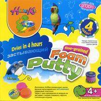 Пластилин шариковый застывающий (мелкозернистый; 4 цвета)