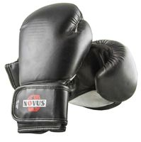 Перчатки боксёрские LTB-16301 (S/M; чёрные; 10 унций)