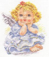 "Вышивка крестом ""Ангелок мечты"" (110х140 мм)"