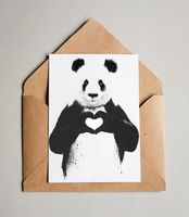 "Открытка ""Панда"" (арт. 486)"