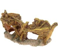 """Декорация для аквариума """"Лодка. Gold"""" (18х8,5х7 см)"""