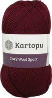 "Пряжа ""KARTOPU. Cozy Wool Sport №K110"" (100 г; 280 м; бордовый)"