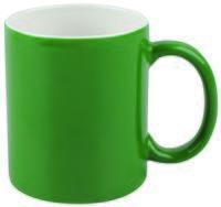 Кружка керамическая (320 мл; зеленый/белый)