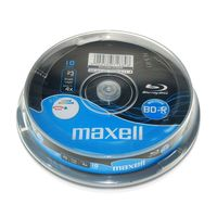 Диск BD-R 25Gb 4x Maxell Printable CakeBox 10