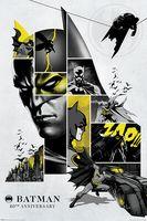 """Постер """"DC. 80-th Batman"""""""