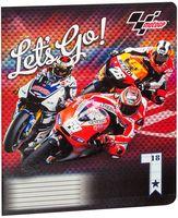 """Тетрадь в линейку """"MotoGP"""" 18 листов"""