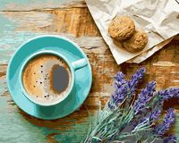 """Картина по номерам """"Утренний кофе"""" (400х500 мм)"""