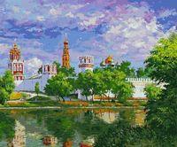 """Картина по номерам """"Новодевичий монастырь"""" (500х600 мм)"""