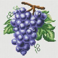 "Алмазная вышивка-мозаика ""Гроздь винограда"" (300х300 мм)"