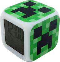 """Часы-будильник пиксельные с подсветкой """"Крипер"""""""
