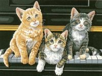 """Картина по номерам """"Котята на пианино"""" (280х360 мм; арт. DMS-91144)"""