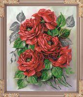 """Вышивка бисером """"Садовые розы"""" (475х385 мм)"""