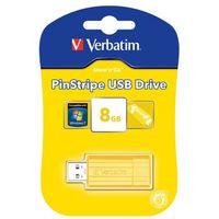 USB FlashDrive 8Gb Verbatim PinStripe (желтая)