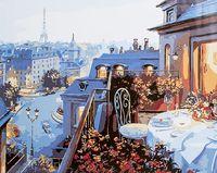 """Картина по номерам """"Ужин в Париже"""" (400х500 мм)"""
