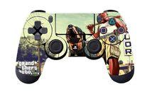 "Наклейка защитная для геймпада ""GTA 5"" (p4hm9294) (PS4)"