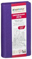"""Еженедельник датированный """"City"""" (80x160 мм; фиолетовый; 2018)"""