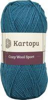"""Пряжа """"KARTOPU. Cozy Wool Sport №K1467"""" (100 г; 280 м; темно-голубой)"""