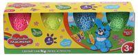 Пластилин шариковый (крупнозернистый; 4 цвета)