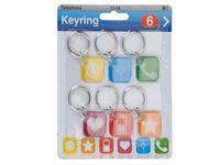 Набор брелоков для ключей пластмассовых (6 шт; арт. 110651000)