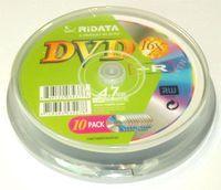 Диск DVD+R 4.7Gb 16x Ridata CakeBox 10