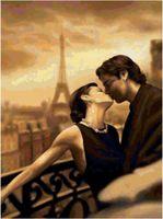 """Алмазная вышивка-мозаика """"Из Парижа с любовью"""" (400х500 мм)"""