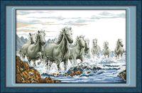 "Вышивка крестом ""Табун лошадей"" (365x550 мм)"