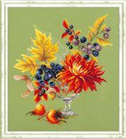 """Вышивка крестом """"Осенний букетик"""" (200x230 мм)"""