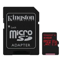 Карта памяти Kingston Canvas React SDCR/64GB microSDXC 64GB (с адаптером)