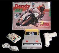 Игровая приставка DENDY Junior + 104 встроенные игры (2 джойстика + пистолет)