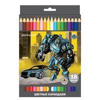 """Цветные карандаши """"Роботы"""" (18 цветов)"""