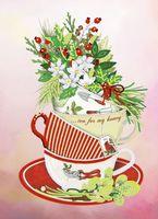 """Вышивка бисером """"Чайная коллекция: Цветочная"""" (220х300 мм)"""