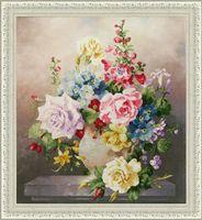 """Вышивка крестом """"Цветочная мозаика"""" (440x387 мм)"""