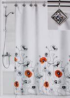 """Шторка для ванной """"Маки"""" (180х180 см; 12 крючков)"""