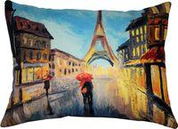 "Подушка ""Париж"" (45x35 см; синяя; арт. 08-569)"