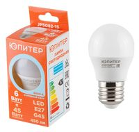 Лампа светодиодная Шар G45 6 Вт/4000/Е27