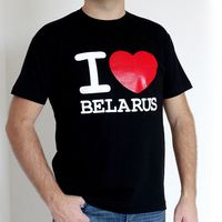 """Футболка мужская """"I love Belarus"""" (М; черная)"""