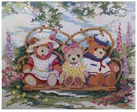 """Алмазная вышивка-мозаика """"Мишки в саду"""""""