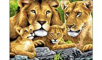 """Картина по номерам """"Семья львов"""""""