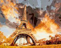 """Картина по номерам """"Небо Парижа"""" (400х500 мм)"""