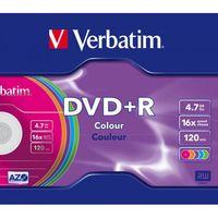 Диск DVD+R 4.7Gb 16x Verbatim LightScribe v1.2 color (в упаковке 5 штук)