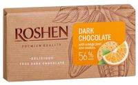 """Шоколад темный """"Roshen"""" (90 г; с апельсиновой цедрой и печеньем)"""